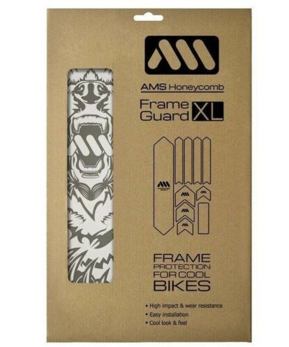 All Mountain Style AMS Frame Guard XL Funny Protection Stickers Clear//Bear