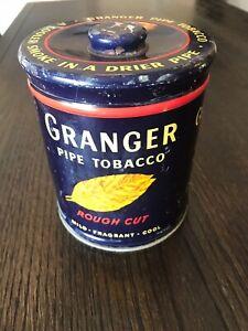 Vintage-Granger-Pipe-Tobacco-Advertising-Tin-Can