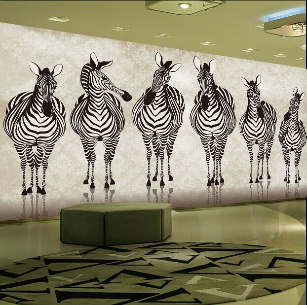 3D Gemaltes Zebra Kunst 8980 Tapete Wandgemälde Tapeten Bild Bild Bild Familie DE Jenny | Guter Markt  |  ffb3a5