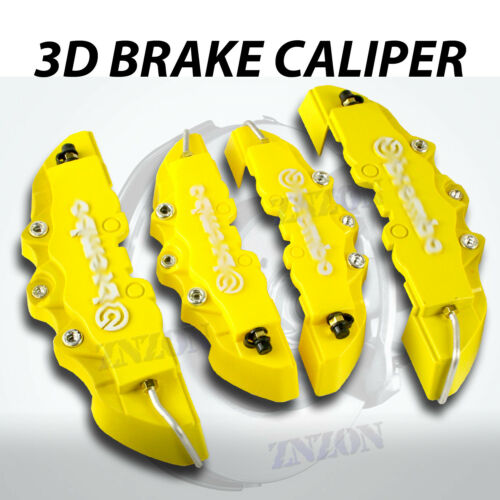4pcs Yellow 3D Disc Brake Caliper Cover Kit For Toyota Camry 16-18 inch wheels