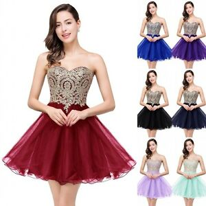 a77b68fe93e Image is loading Short-Evening-Formal-Party-Dress-Prom-Ball-Gown-