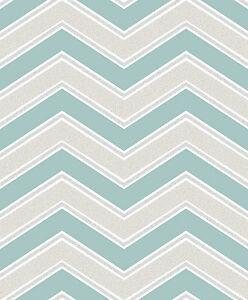 Image Is Loading Coloroll By Crown Teal Grey Chevron Zig Zag