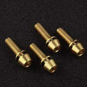 6PCS Titanium Ti M5 x 18mm Bolt Taper Head Conical Head Screw Black