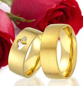 2-SILBER-Partner-Ringe-Trauringe-Eheringe-Gravur-Gratis-GOLD-Plattiert-T321