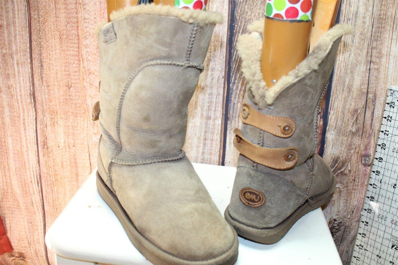 EMU Brown Suede 9 Winter Women's Boots