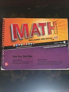Details about Glencoe McGraw/Hill Math Course 3, Volume 1 Teachers  Walkaround Ed  Common Core