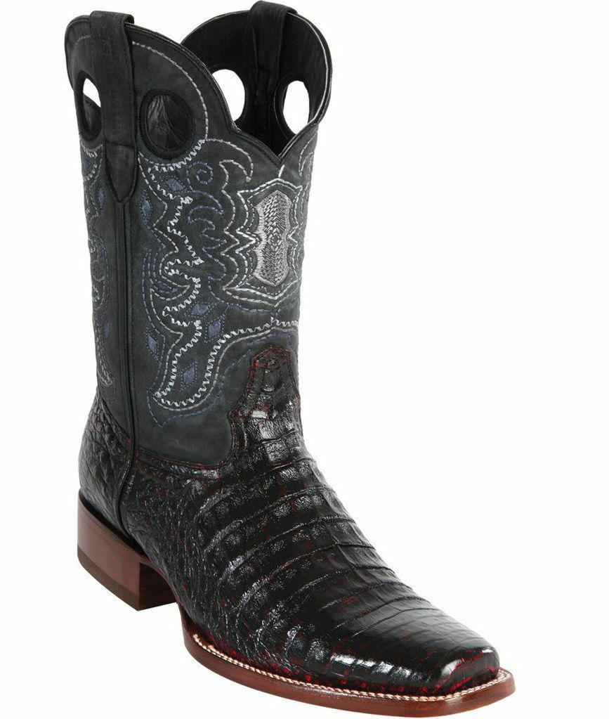 WILD WILD WILD WEST CHERRY CROCODILE BELLY COWBOY BOOT RODEO-SQUARE-TOE (D) 3044bd