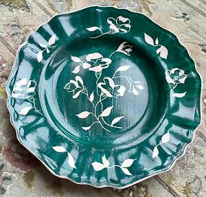 Vintage-Hand-Painted-English-J-amp-G-Meakin-034-Glamour-Rosa-034-9-034-23cm-Ironstone-Plate