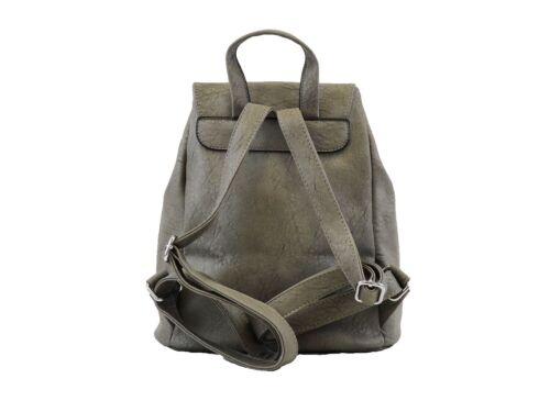 Hearty Trendy Faux Leather Fashion Backpack with Fringe