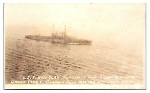 RPPC-USS-New-York-BB-34-WWI-amp-WWII-Battleship-Real-Photo-Postcard-5U-2-1