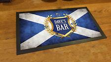 Personalised Golden Crest Beer Festival Beer Label Scottish Flag bar runner mat