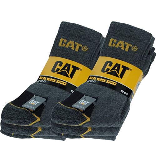 CAT Caterpillar Mens Adults Heavy Duty Industrial Workwear Socks Pack of 6