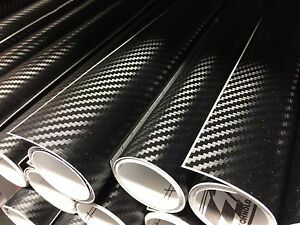 Carbon-Fibre-Vinyl-Sheet-Film-Wrap-Black-1480MM-x-300MM-Air-Bubble-Free