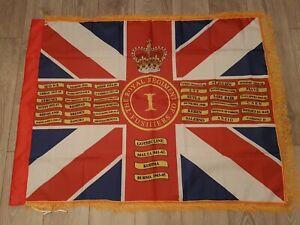 The Royal Regiment of Fusiliers 1st battalion Regimental colours flag.