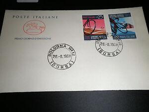 ITALIA-1968-034-CAMPIONATI-MONDIALI-CICLISMO-034-BUSTA-I-GIORNO-FDC-CAVALLINO-CAT-X