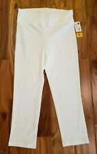 NWT Womens June /& Daisy Bright White Capris Leggings 2XL XL Medium Small