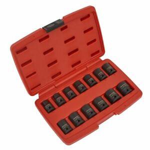 Sealey-impacto-Socket-Set-13pc-unidad-1-2-034-Sq-12pt-AK5614M