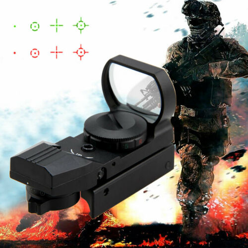 Tactical Red//Green Dot Reflex Holographic Sight Four Reticle Scope 20mm Rails