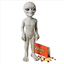 """UFO EXTRA TERRESTRIAL ALIEN 14"""" GRAY STATUE ROSWELL SCULPTURE NEW"""