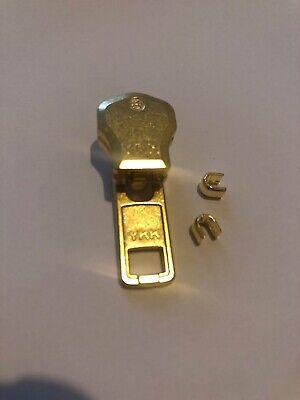 YKK NO-8 AUTO LOCK GOLD//YELLOW// BRASS SLIDER//RUNNER//PULLER FOR METAL ZIP