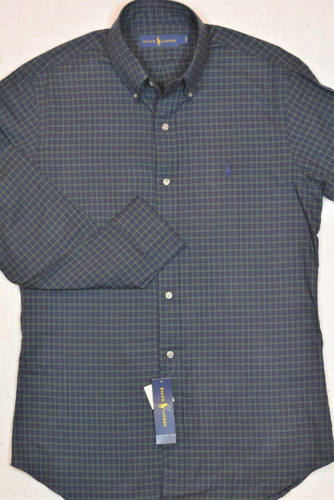 Ralph Lauren Shirt Green Navy Plaid Long Sleeves 2XLT 3XLT NWT