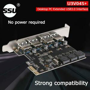4-Port USB interface HUB Adattatore Host Controller Card//Scheda Windows Desktop PC
