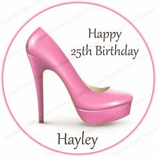 CLEARANCE  Bright Pink High Heel Shoe Shaped Sugarcraft Cake Toppers x 5