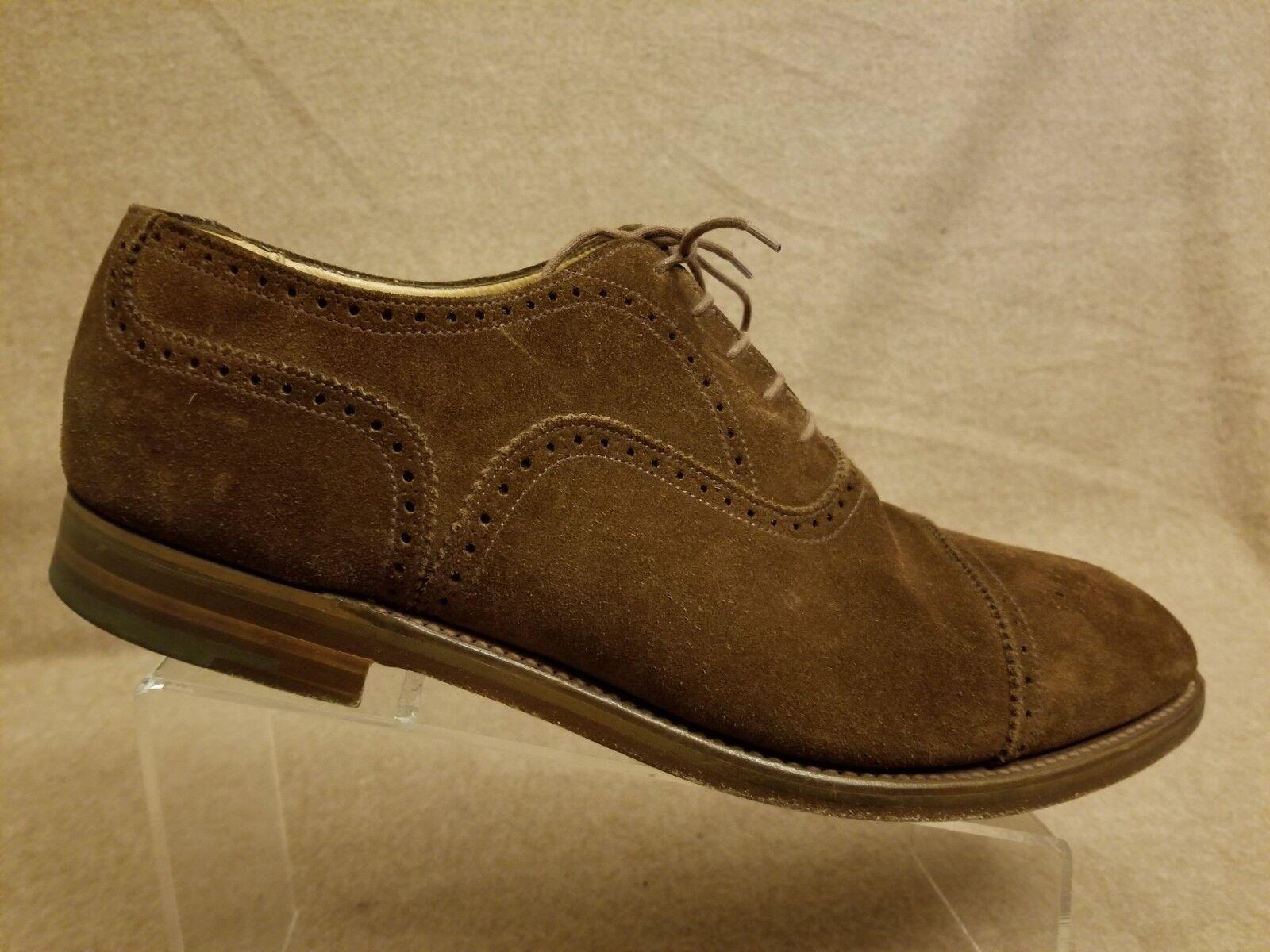 Alfrojo Splata Hombres Marrón Gamuza Cuero puntera Oxford de vestir Zapatos G