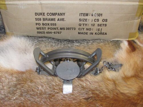 4 Duke #3 offset Coil Spring Traps  Beaver Fox Bobcat Coyote Wolf Trap NEW SALE