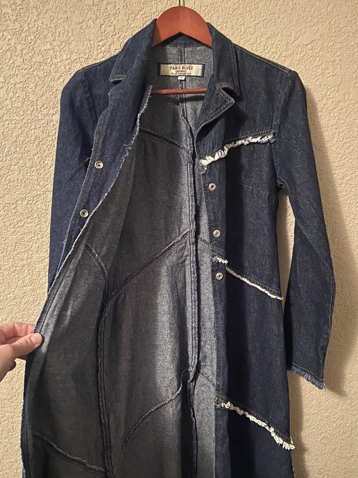 Paris Blues Originals Denim Dress Small Cotton Sn… - image 3