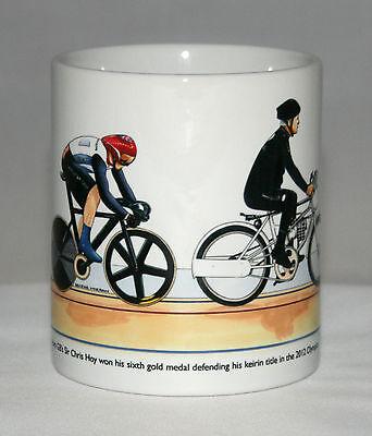 Cycling Mug. Sir Chris Hoy, Keirin, 2012 Olympics, with title