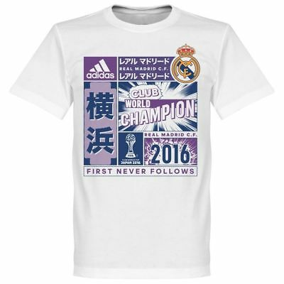 Calcio Adidas Real Madrid Club Weltmeister Club World Champion 2016 T-shirt...-