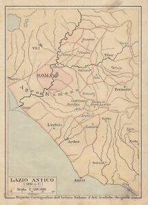 Cartina Italia Anno 500.C2920 Lazio Antico 500 A C Mappa D Epoca 1931 Vintage Map Ebay