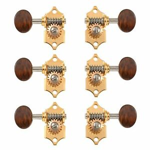 waverly guitar tuners with snakewood knobs for solid pegheads gold 3l 3r ebay. Black Bedroom Furniture Sets. Home Design Ideas