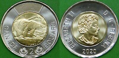 Brilliant Uncirculated 2013 Canada 2 Dollars From Mint/'s Roll