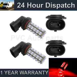 2X HB4 9006 RED 60 LED FRONT HEADLIGHT HEADLAMP LIGHT BULBS KIT XENON HL500901