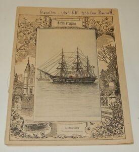 Ancien Cahier Scolaire Avec Visuel Marine Francaise : Le Magellan - Caledonie éLéGant Dans Le Style