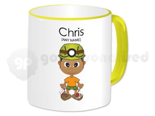 Personalised Gift Rock Climbing Mug Boys Rock Climber Instructor Present Fun #3