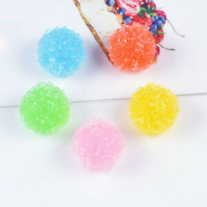 5 Pcs Kawaii Resin Round Artificial Candy Cabochon For Diy Phone