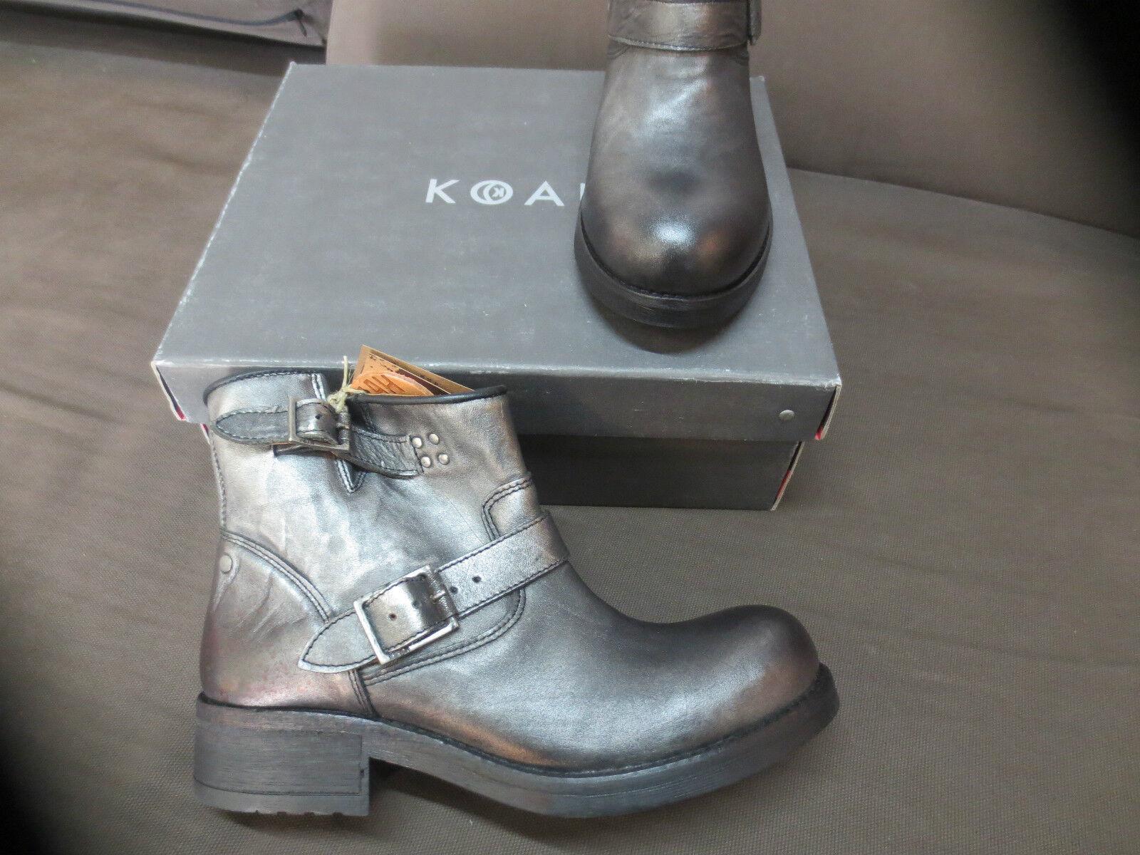 KOAH boots plomb cuir NEUVE Valeur 179E Pointures ,39,41.