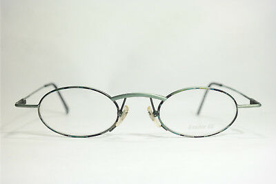 Vintage Essilor Ee Mod. 300 Col. 631 45[]16 140 Grün Oval Brillengestell Nos Modische Muster