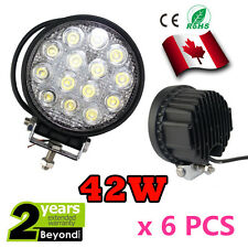 6x 42W Led Work Light Lamp phare de travail Spot Beam 4x4 Off-road SUV discount