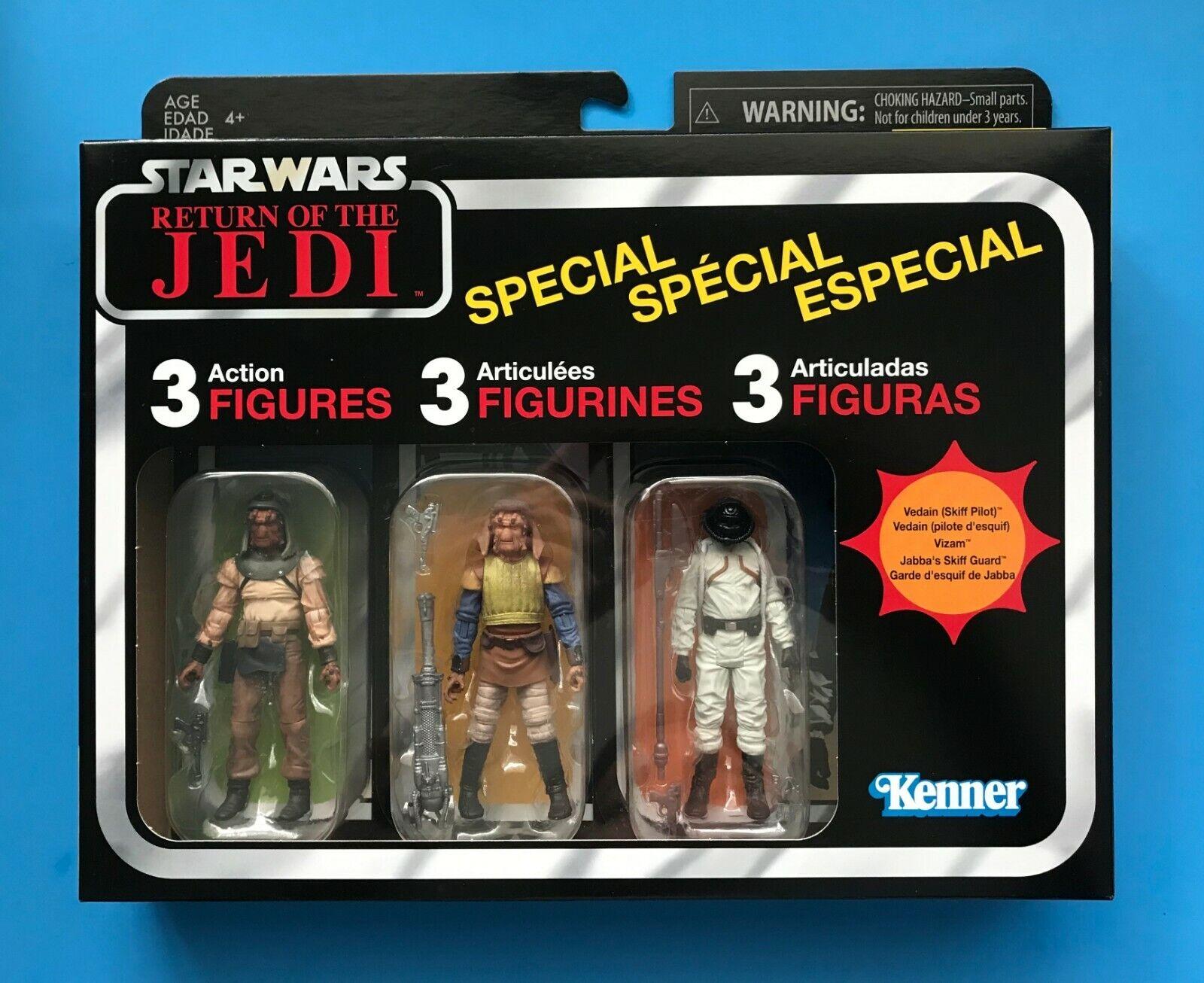 Estrella Wars Vintage Colección Skiff Guard 3 paquetes + Tatooine Bote