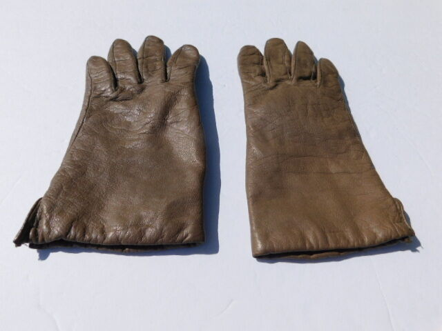 *designer Ladies Taupe Leather Winter Gloves Acrylic Lining Size Medium Extremely Efficient In Preserving Heat