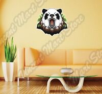 Angry Panda Bear Face Funny China Animal Wall Sticker Interior Decor 25x22