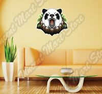 Angry Panda Bear Face Funny China Animal Wall Sticker Interior Decor 25x22