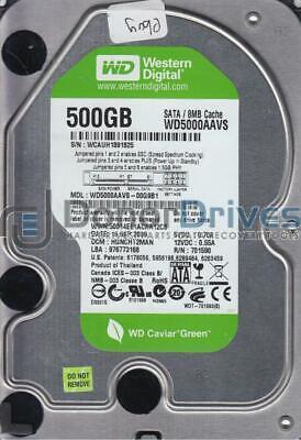 DCM HGNCHT2MAN Western Digital 500GB SATA 3.5 Hard Drive WD5000AAVS-00G9B1