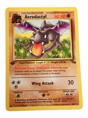 Pokemon Card Aerodactyl 16//62 Rare Non-Holo Fossil Set