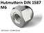 Hutmuttern Edelstahl DIN 1587 Muttern V2A DIN1587 VA hohe Hutmutter A2 Sechskant