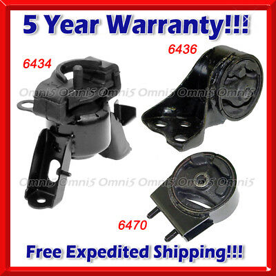 Engine Motor Mount Set 3PCS K637 Fit 95-98 Mazda Protege 1.5L//1.8L MANUAL Trans